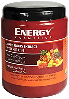 Energy Cosmetics Mixed Fruits Extract Hot Oil Cream with Keratin, 500ml