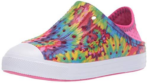 Skechers Girls Foamies Guzman Steps-Color Hype Water Shoe, Multi, 1 Big Kid