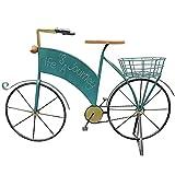 SOFACTY Bicicleta Soporte para Plantas Hierro Forjado Maceteros Soporte Flores Decoraciones para Tienda Comestibles Garden Yard Jardinería Azul