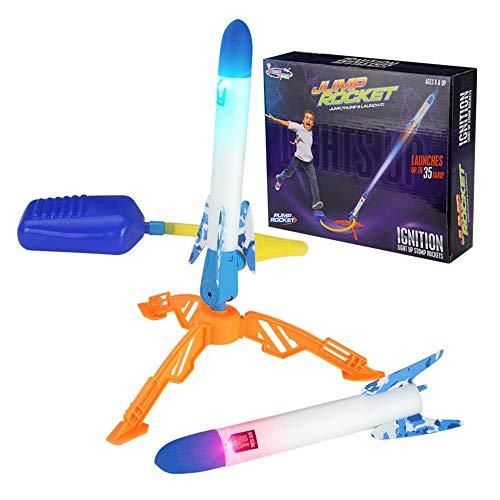 TwoCC Juego Al Aire Libre, Lanzacohetes Stomp Cohete Cohete Pisoteando El Pie Cohete Aerodinámico Juguete Deportivo Iluminación Al Aire Libre Pedal para Padres E Hijos Pedal Suave