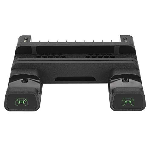 Estante de almacenamiento de resistencia a caídas multifuncional Controlador de base de ventilador de disipación de calor Cargador dual, para PS4 SLIM