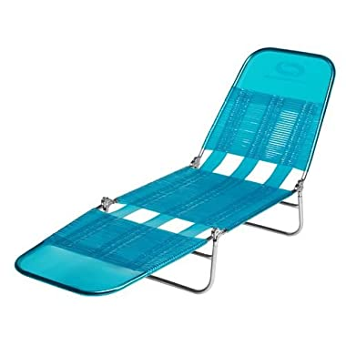 Mosaic Vinyl Strap Lounger-Blue Bright 01