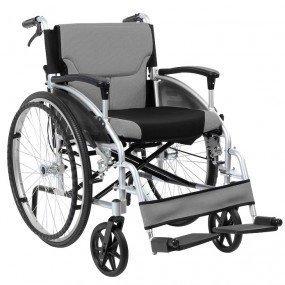 Pieghevole Alluminio Semovente Sedia a rotelle con Di assistenza Freni a...