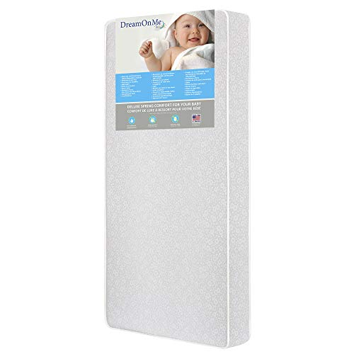 "Dream On Me Little Baby 6"" Full Size Firm Foam Crib & Toddler Bed Mattress"