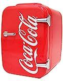 Cooluli - Minirefrigerador o calentador para coches, viajes por carretera, casas, oficinas y dormitorios, diseño de Coca-Cola 4 Liter Coca Cola Vitage Chic K4LVC