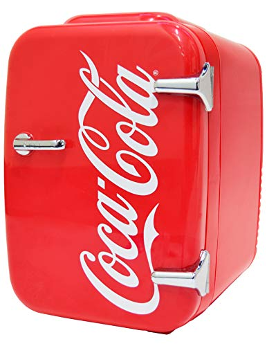 Coca-Cola Vintage Chic 4L Cooler/Warmer Mini Fridge by Cooluli for Cars, Road Trips, Homes, Offices...