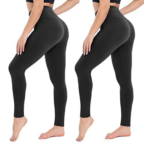Campsnail Damen Leggings Sporthose mit Hohem Bund - Lang Yogahose Laufhose Fitnesshose Leggins Yoga Sport Leggings Tights für Damen zum Laufen, Radfahren, Fitness