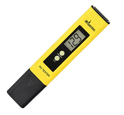 Digital PH Meter Tester Best for Water Aquarium Pool Hot Tub Hydroponics Wine - Push Button Calibration Resolution .01 / High Accuracy +/- .05 - Large LCD Display
