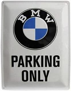 USA Large Metal BMW Parking Only Sign