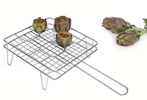Capaldo - Parrilla de hierro cromado para alcachofas (27 x 27 cm)