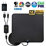 [New Advanced Chip] HDTV Indoor Antenna for Long Range Signal Reception; Low Noise Amplifier to Boost Signal is Included; Supports All HD Digital TV formats; 4K, 1080p and More, Mata1 (a USA Company)