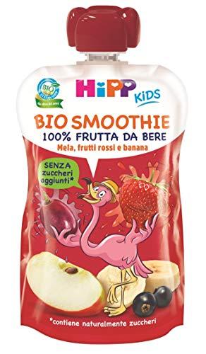 HiPP - Smoothies Bio, Gusto Mela, Banana E Frutti Rossi, 6 Confezioni Da 120 Ml - 720 g