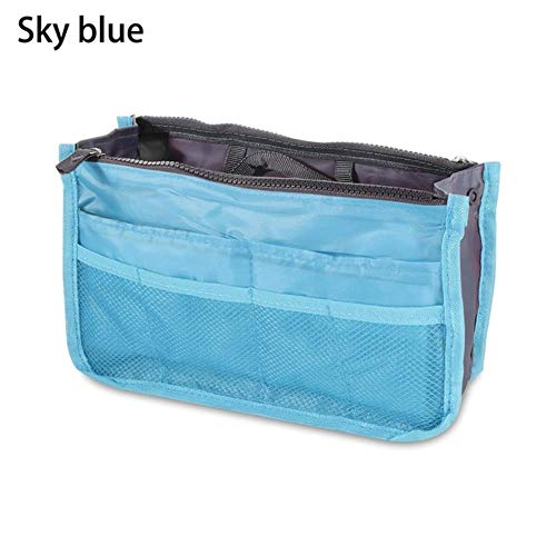 IONE Portable Cosmetic Bag Travel Multifunctional Storage Bag Beauty Bag Bathroom Cosmetic Bag Cosmetic Storage Bag, Sky Blue