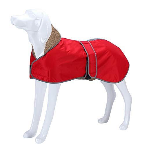 Morezi Abrigo para Perro Impermeable, Abrigo de Invierno para Perro con Forro Polar Grueso, Ropa para Perro al Aire Libre con Bandas Ajustables para Galgo, Lurcher y Whippet