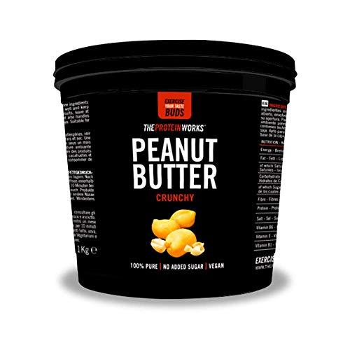 Erdnussbutter | 100% Natürlich Geröstete Erdnussbutter | Vegan | THE PROTEIN WORKS | Crunchy | 1kg