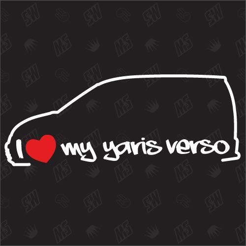 test speedwerk-motorwear Ich liebe meinen Yaris Verso-Toyota Sticker-Bj.  1999-2005 Deutschland