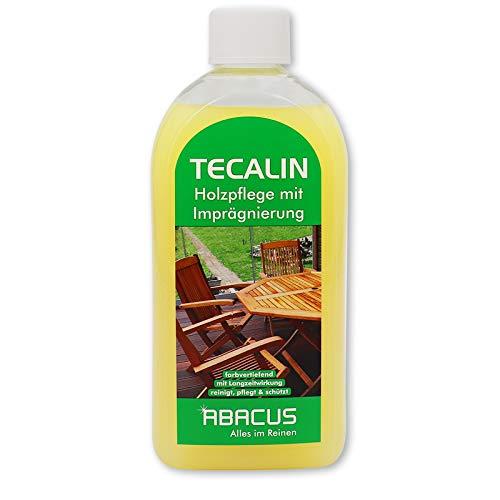 Tecalin 500 ml (4564) - Für alle Holzarten Holzpflegemittel Holzpflegeöl Teakpflege Holzpflege Imprägnierung Holz-Reiniger Holz-Pflege - Made in Germany