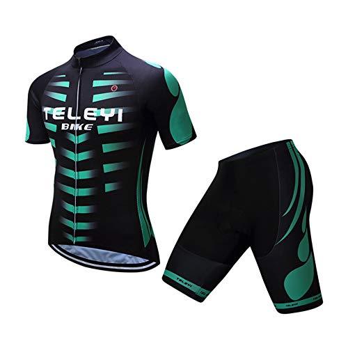 Lozse Heren Fietsen Jersey, Heren fietskleding set racefiets mountainbike team uniform kleding pak heren shirt shorts en bib tops fietskleding jurk