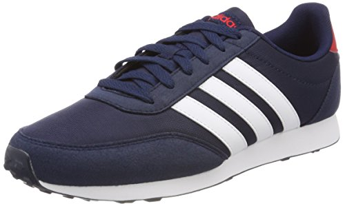 adidas V Racer 2.0, Sneaker Uomo, Blu (Collegiate Navy/Footwear White/Scarlet), 42 2/3 EU