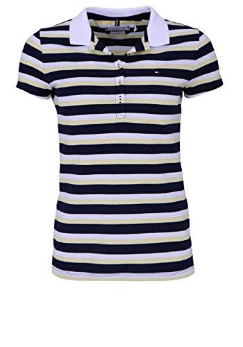 Tommy Hilfiger Mujer Poloshirt New Chiara STR PQ (S, Azul Oscuro)