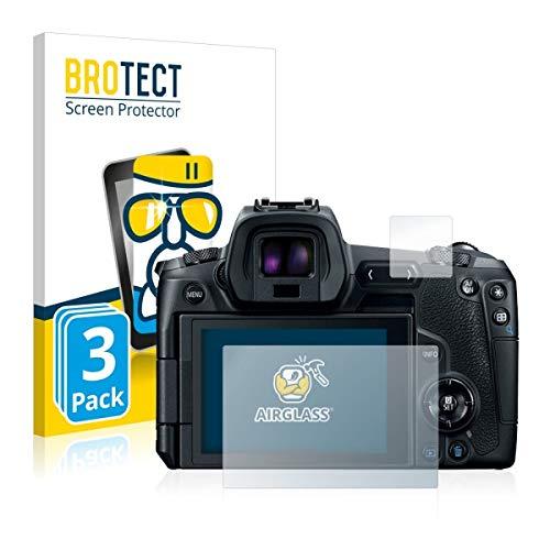 3X BROTECT AirGlass Premium Glasfolie für Canon EOS R (extrahart, ultradünn, hochtranzparent, Anti-Fingerprint, flexibel)