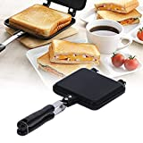 Frying Pan, Double-Sided Frying Pan Multifunction Baking Pan Kitchen Gadgets Sandwich Mold Pan Nonstick Cooking Pan Square for Toaster Breakfast Omelette