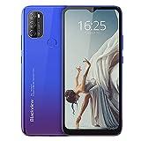Blackview A70 (E) Smartphone ohne Vertrag Android 11, 6.517 Zoll HD mit 5.380mAh Batterie, 3GB RAM+32GB Speicher Octa-core, 13MP+5MP Kamera, Fingerabdruck Sensor, 4G Handy Dual SIM Mist Blau