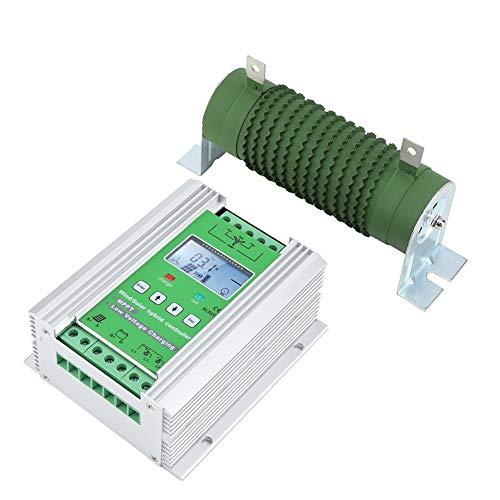 Contrôleur de charge, Kit de générateur d'éolienne Harnais de contrôle Écran LCD avec contrôleur de charge pour éoliennes 300W pour femme pour éoliennes 500W(JW2460, Type de tour penchée de Pise)