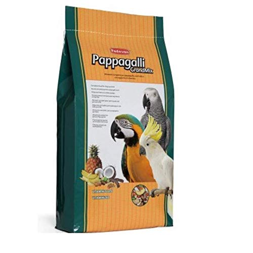 Padovan Grandmix Pappagalli - Alimento Completo per pappagalli - Miscela di Semi e cerali con Frutta - 12,5 kg