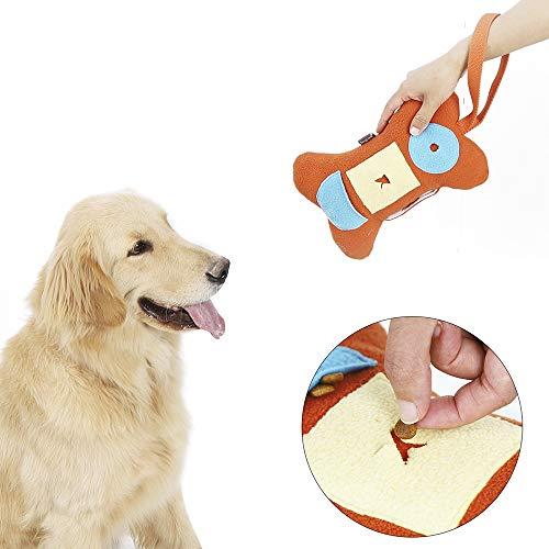 AYADA Hundespielzeug Knochenform Langsame Zuführung, Quietschspielzeug Hund Dog Toy Hundespielzeug Quitschend Schadstofffrei/Interaktives Spielzeug/Quitsch Spielzeug/Intelligenz Spielzeug für Hunde