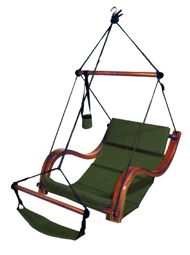 Hammaka Nami Deluxe Hanging Hammock Lounger Chair In Green