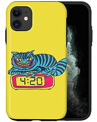 JUSPHY - Funda para teléfono compatible con iPhone 12 Mini, reloj despertador de gato PIN566, diseño de moda, accesorios de teléfono