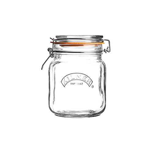 Kilner Clip Top Square Jar 34 Fl Oz