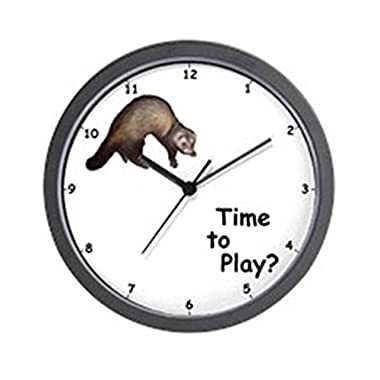 CafePress - Ferret Wall Clock - Unique Decorative 10  Wall Clock