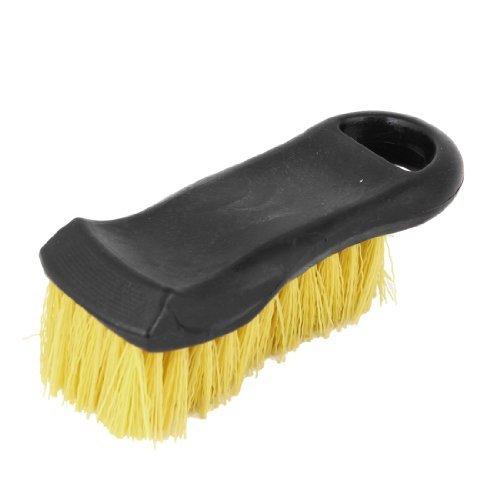 DealMux Útiles de Limpieza de alfombras para sillas de plástico Inicio Alquiler de Cepillo, Negro/Amarillo