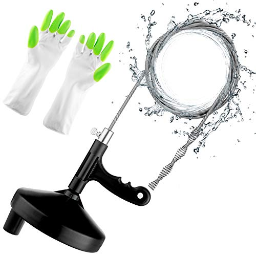 Plumbing Snake Sink Snake 25 Ft Drain Auger Pipe Snake Tool For Cleaning Clogged Kitchen Sink