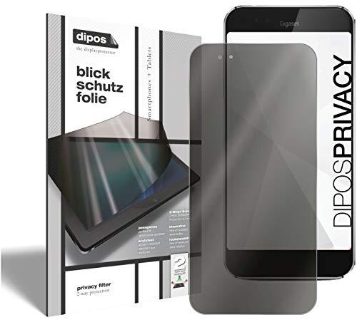 dipos I 2-Wege Blickschutzfolie kompatibel mit Gigaset ME Pro (Im Hochformat) I Sichtschutz-Folie Bildschirm-Schutzfolie Privacy-Screen - Schützt gegen seitliche Blicke