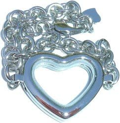 Manufacturer regenerated product Clearly Austin Mall Charming Heart Bracelet Locket