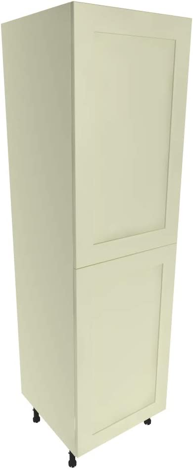 Kitchen Tall Larder Unit Cabinet Painted Shaker Matt Ivory Cream 88mm Frame Amazon Co Uk Kitchen Home