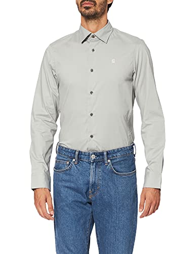 G-STAR RAW Dressed Super Slim Camicia, Grigio (Correct Grey C271-1238), M Uomo