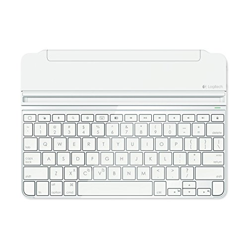 Logitech Ultrathin Magnetic Clip-On Keyboard Cover für iPad Air 2 (kabellose Bluetooth-Tastatur und Halterung, deutsches Tastaturlayout QWERTZ) weiß
