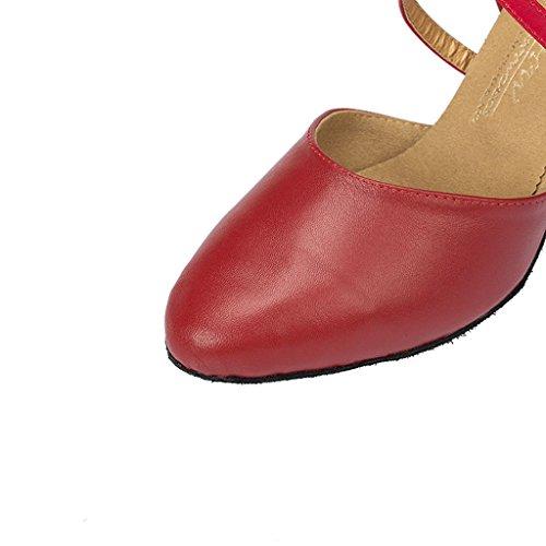Meijili ,  Damen Tanzschuhe , rot – rot – Größe: 40 - 5