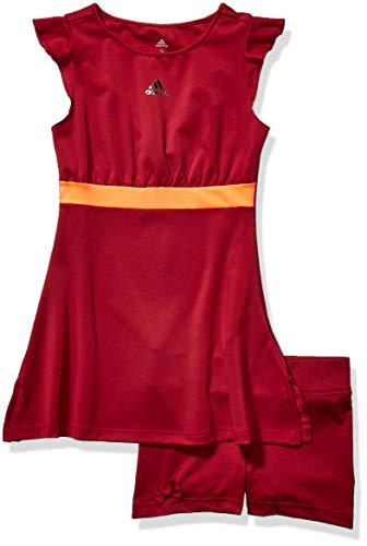 adidas Ribbon Tennis Dress Vestito, Collegiate Burgundy, L Bambini