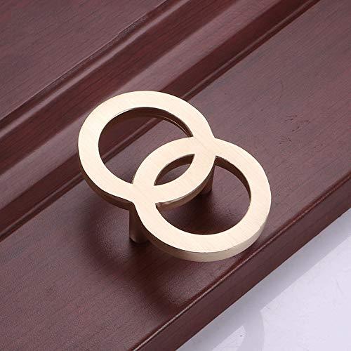 Home Hotel eenvoudige 4-pack eenvoudige gouden dubbele ronde deurklink kledingkast schoenenkast meubel hardware greep