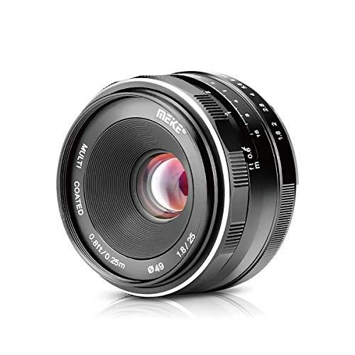 Meike Lente grandangolare da 25mm f / 1.8 Obiettivo grandangolare grandangolare per Olympus Panasonic Micro 4/3 Mount Mirrorless Camera