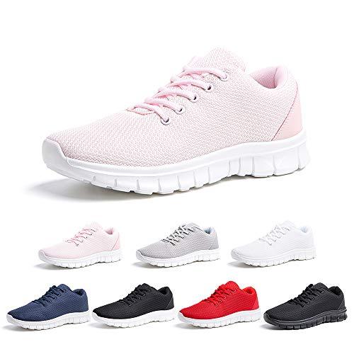 Zapatillas Running Hombre Mujer Zapatos Deportivos con Cordones Casuales Sneakers Sport Fitness...