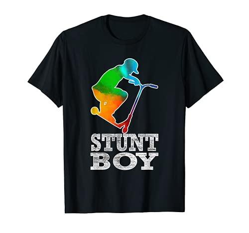 Stunt Boy per piloti di scooter acrobatici e ragazzi skater Maglietta