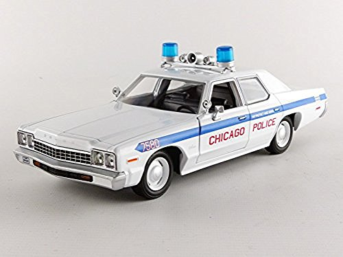 Greenlight Collectibles - 84012 - Dodge Monaco - Blues Brothers Chicago Politie 1980 - schaal 1/24 - wit/blauw