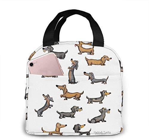 Weiner Dog Drawing at Getdrawing Bolsa de almuerzo para mujeres, niñas, niños, bolsa de picnic aislada, enfriador térmico, bolsa grande para preparación de comidas, Bento, linda bolsa