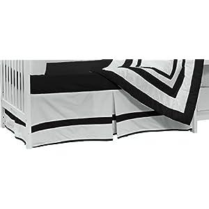 Baby Doll Bedding Modern Hotel Style Nuetral Crib Skirt/Dust Ruffle, Black